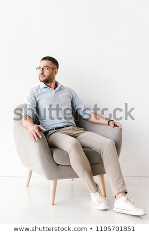 Full length portrait of businesslike man wearing stylish formal  Stock photo © deandrobot