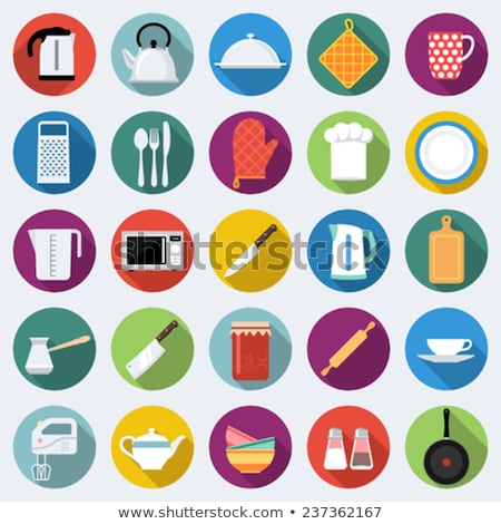 Kitchen flat icon. Knife Stock photo © netkov1