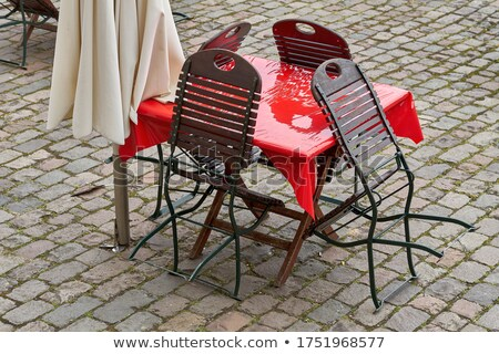 Restaurant with Table and Seat Chairs, Terrasse Stock photo © robuart