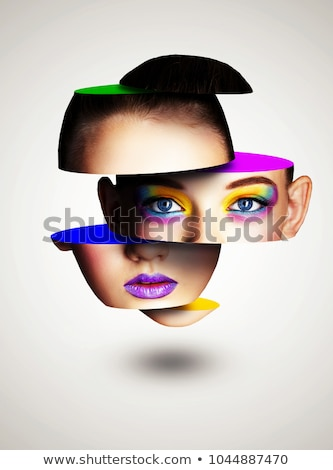 Beauty, cosmetics and makeup. Bright creative make-up Stock photo © serdechny