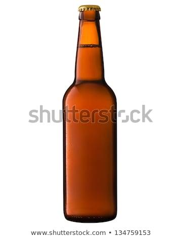 üres borostyánkő sörösüveg üveg másik cseppek Stock fotó © albund