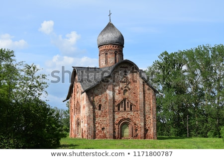 Kerk Rusland voorbeeld architectuur vroeg kruis Stockfoto © borisb17