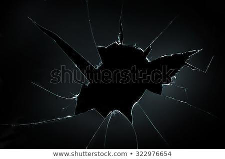 Gebroken glas oppervlak scheuren textuur abstract behang Stockfoto © dolgachov