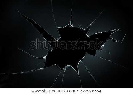 cacos · de · vidro · superfície · rachaduras · azul · branco · linhas - foto stock © dolgachov