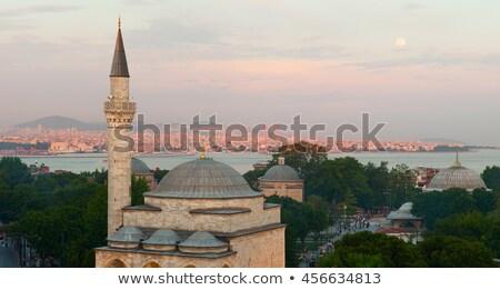Moskee istanbul oude wijk Turkije Blauw Stockfoto © borisb17