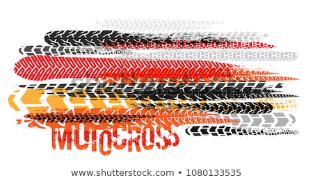red background with tire tracks print marks Stock photo © SArts