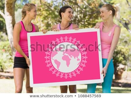 Wereld planeet grafische roze borstkanker bewustzijn Stockfoto © wavebreak_media