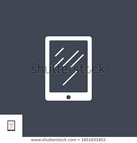 ноутбука · вектора · икона · изолированный · белый · бизнеса - Сток-фото © smoki