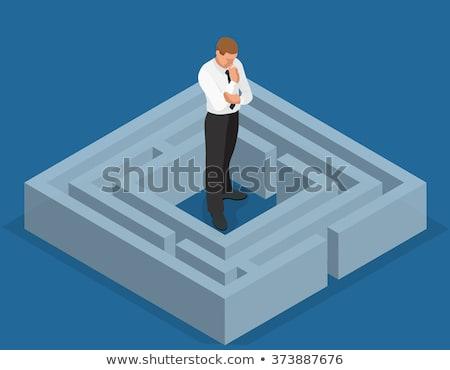 Imprenditore 3D labirinto pronto business Foto d'archivio © ra2studio
