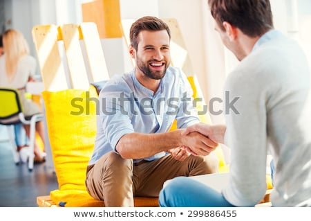 success dealing, two people shake hand as cooperate and teamwork Stock photo © snowing