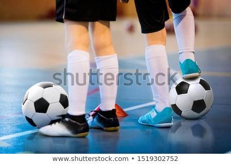 futball · képzés · kettő · fiatal · játékosok · golyók - stock fotó © matimix