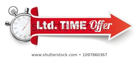 красный таймер Баннеры изолированный черный бизнеса Сток-фото © Darkves