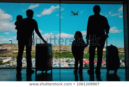 Girl and boy in airport lounge Stock photo © jossdiim