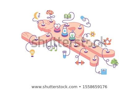 human sleep biohacking icon vector illustration stock photo © pikepicture