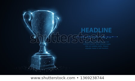 Campeão o melhor dourado copo vetor Foto stock © robuart