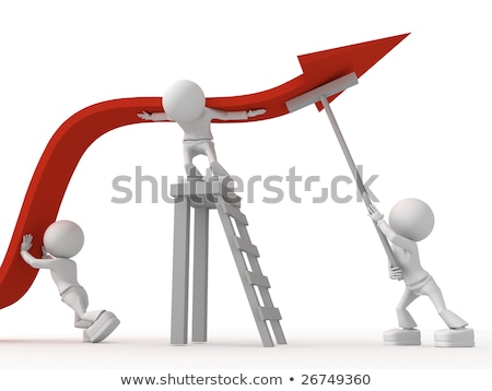 Team of Business Workers Teamwork Gaining Money Stock photo © robuart