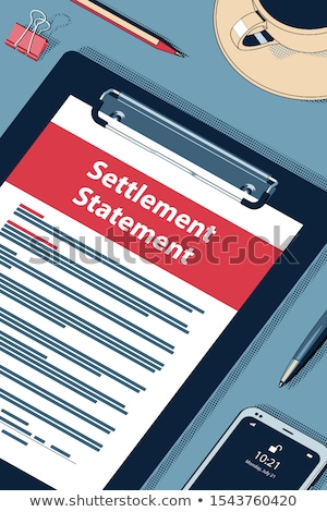 Settlement Statement Form - Vector Halftone Isometric Illustration. Stock photo © tashatuvango