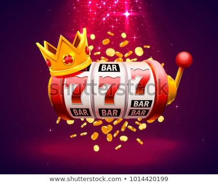 Juego máquina ruleta símbolo casino vector Foto stock © robuart
