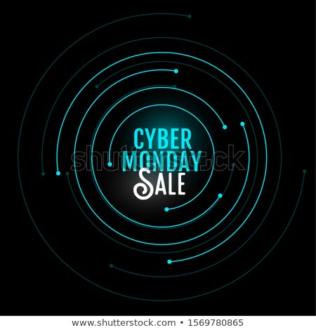 cyber monday sale background in circular style design stock photo © sarts