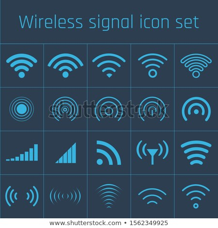 Different wireless access wifi icon set, wifi collection. Stock Vector illustration isolated on blue Stock photo © kyryloff