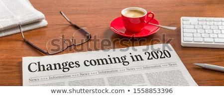 újság asztal főcím üzlet iroda kávé Stock fotó © Zerbor