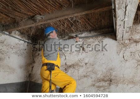 Trabalhador velho celeiro chave de fenda Foto stock © simazoran