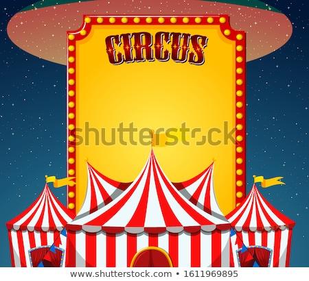 Cirkusz jelenet felirat sablon égbolt illusztráció Stock fotó © bluering