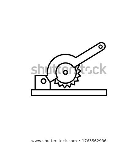 Gép kerék penge ikon vektor skicc Stock fotó © pikepicture