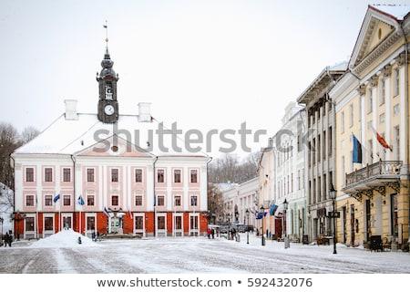 Városháza tér Észtország fő- ház városi Stock fotó © borisb17
