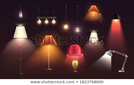 Creative lampshades in light room Stock photo © dashapetrenko