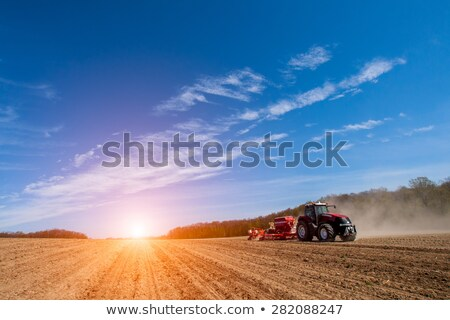 Field sowing in spring Stock photo © simazoran