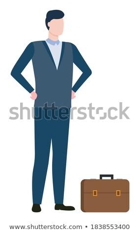 Worker Consultation, Broker Man, Agent Vector Stock photo © robuart