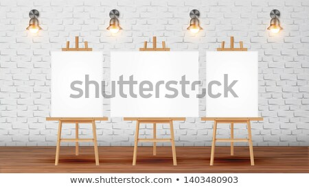 Classroom For Painter Course With Equipment Vector Stock photo © pikepicture