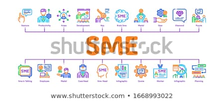 Sme Business Company Minimal Infographic Banner Vector Stock photo © pikepicture