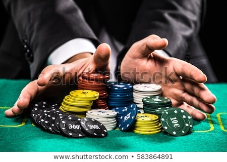 Casino jeux divertissement vert roulette table Photo stock © olira