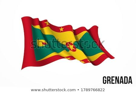 Grenada zászló fehér háttér szalag ünnep Stock fotó © butenkow