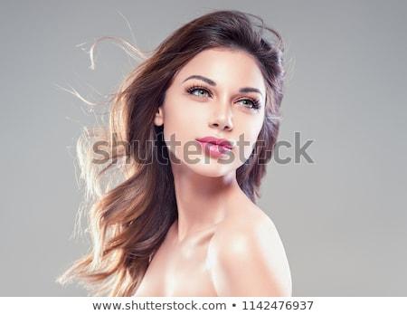 Beautiful face of attractive elegant model. Stock photo © NeonShot