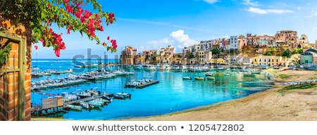 Yachts and boats in the harbor on Mediterranean sea coast, travel and leisure Stock photo © Anneleven