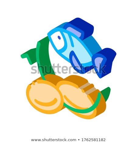 Fish Nutrients Supplements isometric icon vector illustration Stock photo © pikepicture