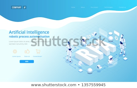 Robotic process automation concept landing page. Stock photo © RAStudio