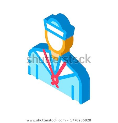 Marinero silueta icono vector signo Foto stock © pikepicture