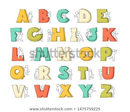 ábécé emberek lány divat absztrakt gyermek Stock fotó © pkdinkar