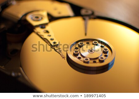 read write head in hard disk drive with platterand spindle Stock photo © gewoldi