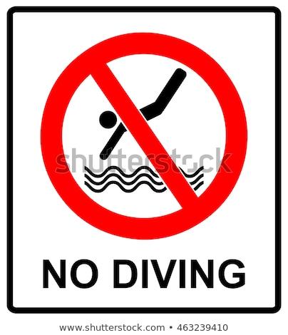 geen · zwemmen · teken · bank · vijver · strand - stockfoto © luissantos84