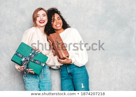 sexy christmas woman stock photo © smithore