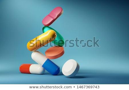 抗生素 性質 白 宏 關閉 商業照片 © pixelman