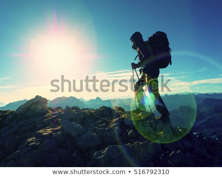 турист альпийский пути женщину ходьбе путь Сток-фото © Antonio-S
