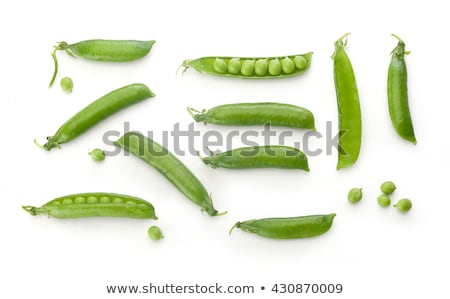Erwten geïsoleerd witte voedsel groene markt Stockfoto © ozaiachin