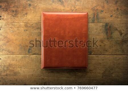 velho · pasta · rasgado · usado · transporte · documentos - foto stock © sibrikov