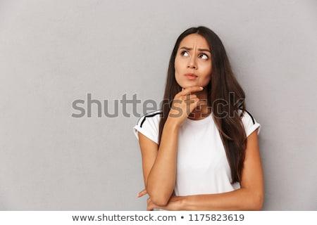 путать женщину открытых ладонями красивой азиатских Сток-фото © Maridav